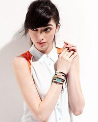 Tai Black Cabochon Silk Drawstring Bracelet