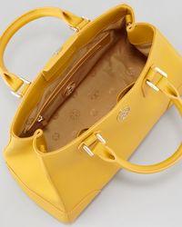 Tory Burch Yellow Robinson Triangle Tote Bag Honey Mustard