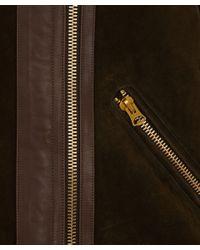 Acne Studios Brown Khaki Velocite Shearling Jacket for men