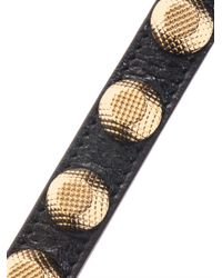 Balenciaga - Metallic Arena Studded Leather Bracelet - Lyst