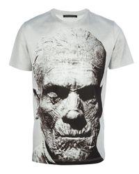 Christopher Kane White Mummy Print Tshirt for men