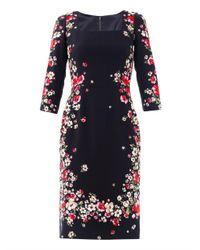 Dolce & Gabbana Multicolor FloraL Print Squareneck Dress