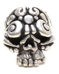 Duffy | Metallic Sterling Silver Ornate Skull Ring | Lyst