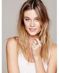 Free People - Metallic Womens Tear Drop Stone Ring - Lyst