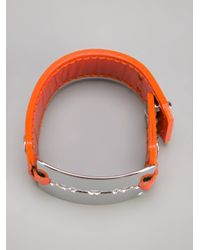 McQ | Orange Leather Razor Bracelet | Lyst