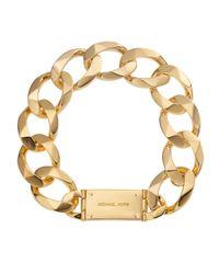 Michael Kors - Metallic Chainlink Collar Necklace Golden - Lyst
