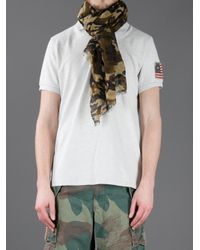 Polo Ralph Lauren - Green Camouflage Print Scarf for Men - Lyst
