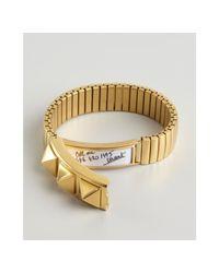Rebecca Minkoff - Metallic Gold Studded Metal Stretch Bracelet - Lyst