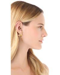 Rodarte - Metallic Barbed Wire Earrings - Lyst