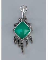Stephen Webster - Green Silver Drop Earrings - Lyst