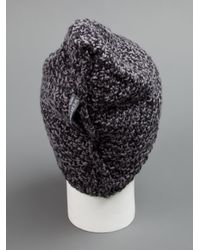 Werkstatt:münchen - Gray Chunky Knit Beanie for Men - Lyst