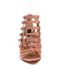 AKIRA - Brown Desiree Strappy Heel - Lyst