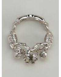 Alexander McQueen Metallic Skeleton Bracelet