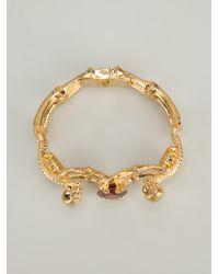 Alexander McQueen - Red Skeleton Bracelet - Lyst