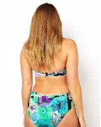 ASOS Multicolor Bikini Pant With Floral Frill