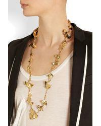 Aurelie Bidermann - Metallic Tangerine Goldplated Necklace - Lyst