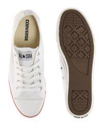 Converse - White All Star Slim Plimsolls for Men - Lyst