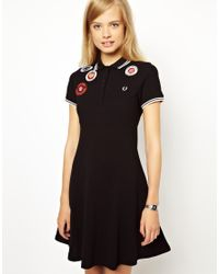 Fred Perry Black Dress with Badges