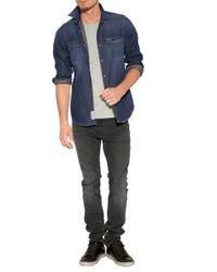 7 For All Mankind - Blue 2 Pocket Denim Shirt for Men - Lyst