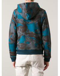 KENZO Gray Cloud Print Sweatshirt for men