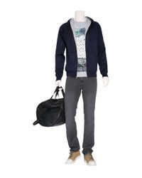 Marc Jacobs - Blue Navy/grey Cashmere and Silk Blend Zip Hoodie for Men - Lyst