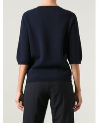 Marni - Blue Bead Embellished Sweater - Lyst