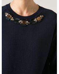 Marni - Blue Bead Embellished Sweater - Lyst