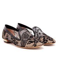 Nicholas Kirkwood Gray Floral Lace Dress Slippers