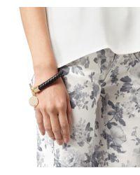 Reiss Metallic Frith Leather Weave Bracelet