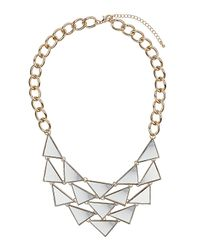 TOPSHOP - Multicolor Mini Mirrored Triangle Necklace - Lyst