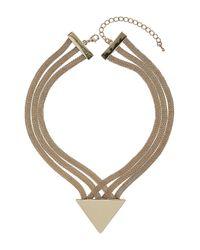 TOPSHOP | Metallic Gold 3 Row Arrow Collar | Lyst