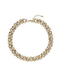 TOPSHOP - Metallic Gold Bubble Link Chain Necklace - Lyst