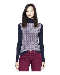 Tory Burch Blue Adlee Sweater