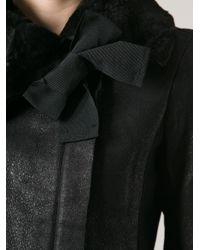 Twin Set Black Leather Jacket