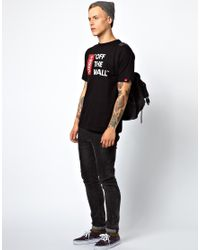Vans Black Off The Wall T-Shirt for men