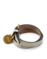 Alexander McQueen - Gray Skull Double Wrap Bracelet - Lyst