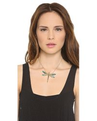 Alexis Bittar Metallic Neo Bohemian Dragonfly Necklace