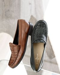 Cole Haan - Brown Laurel Woven Moccasin Sequoia - Lyst