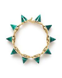 Eddie Borgo | Green Malachite Cone Bracelet | Lyst