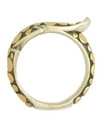 John Hardy Metallic Ayu Petite Leafwrap Ring Size 7