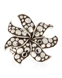 John Hardy | Metallic Dotted Flower Ring Size 7 | Lyst