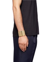 Lanvin - Metallic Metal Bracelet Cuff for Men - Lyst