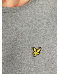 Lyle & Scott Gray Crew Neck T-Shirt for men