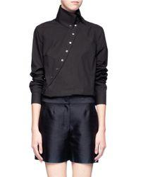 McQ - Black Asymmetrical Cotton Shirt - Lyst