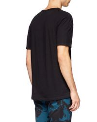 T By Alexander Wang Black Cotton T-shirt for men