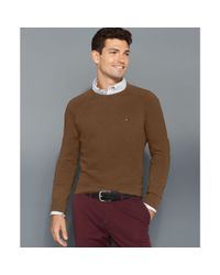 Tommy Hilfiger - Brown American Crew Neck Sweater for Men - Lyst