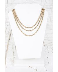 Urban Outfitters - Metallic Triple Layer Twisted Chain Necklace - Lyst