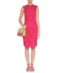 Valentino - Hot Pink Lace Dress - Lyst