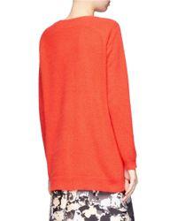 Whistles | Orange Devon Angora Long Sweater | Lyst