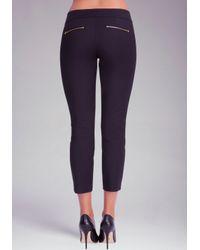 Bebe Blue Zipper Detail Crop Jeans